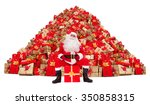 santa claus sitting in front of ... | Shutterstock . vector #350858315