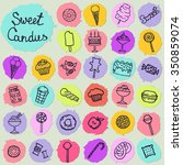 icon set with candies  cakes ... | Shutterstock .eps vector #350859074