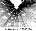 abstract architectural 3d... | Shutterstock . vector #35085994