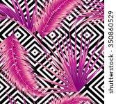 beautiful seamless vector... | Shutterstock .eps vector #350860529