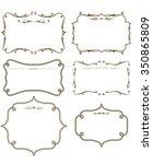 gold frame set vector  | Shutterstock .eps vector #350865809