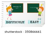 opposite adjectives difficult... | Shutterstock .eps vector #350866661