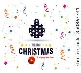 christmas ornament balls...   Shutterstock .eps vector #350867741