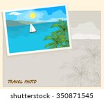 island in the sea and white... | Shutterstock .eps vector #350871545