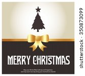 merry christmas card  stylized... | Shutterstock .eps vector #350873099