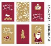 collection christmas vector... | Shutterstock .eps vector #350874479