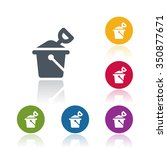 bucket and spade icon | Shutterstock .eps vector #350877671