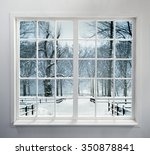 Residential Window With Snow...