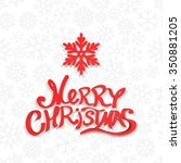 christmas greeting card. merry... | Shutterstock .eps vector #350881205