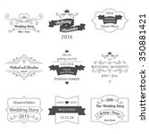 set of wedding labels and... | Shutterstock .eps vector #350881421