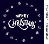 christmas vintage chalk text... | Shutterstock .eps vector #350884919