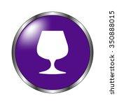 wine glass   vector icon ...
