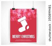 christmas socks flat template... | Shutterstock .eps vector #350899481