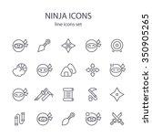 ninja icons. | Shutterstock .eps vector #350905265