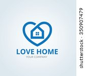 love home logo vector logo... | Shutterstock .eps vector #350907479