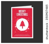 merry christmas card  stylized... | Shutterstock .eps vector #350907485
