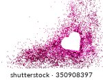 Heart On Pink Glitter For...