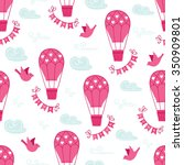 valentine seamless pattern with ... | Shutterstock .eps vector #350909801