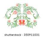 hand drawn illustration in folk ... | Shutterstock . vector #350911031