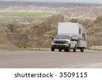 rv pick up truck and trailer... | Shutterstock . vector #3509115