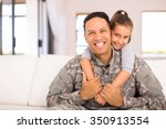 beautiful little daughter and... | Shutterstock . vector #350913554