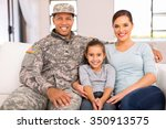 happy american military family... | Shutterstock . vector #350913575