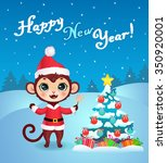 new year greeting card with... | Shutterstock .eps vector #350920001