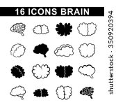 icon with a sketch of the brain | Shutterstock .eps vector #350920394