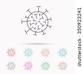 virus icon. molecular cell sign....   Shutterstock .eps vector #350923241
