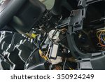 disassembled console in car for ...   Shutterstock . vector #350924249