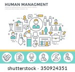 human resource management  team ... | Shutterstock .eps vector #350924351