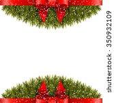 christmas decoration on white... | Shutterstock . vector #350932109