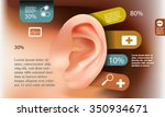 medical ear infographic ... | Shutterstock .eps vector #350934671
