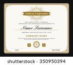 vintage retro art deco frame... | Shutterstock .eps vector #350950394