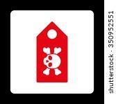 dead label vector icon. style...   Shutterstock .eps vector #350952551