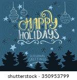 handdrawn postcard or greeting... | Shutterstock .eps vector #350953799