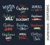 holiday sale  christmas... | Shutterstock .eps vector #350953841