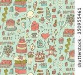 happy birthday pattern   Shutterstock .eps vector #350955461