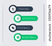 fencing  athletics  football ...   Shutterstock .eps vector #350956679