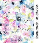 seamless pattern with flowers... | Shutterstock . vector #350959955