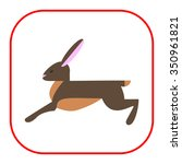 Stock vector icon of running hare 350961821