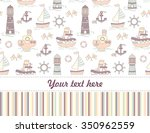 cute  seamless baby shower... | Shutterstock . vector #350962559