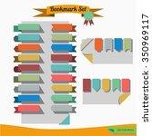 set of flat ribbons bookmark. | Shutterstock .eps vector #350969117
