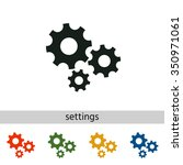 the gear wheel   settings icon. | Shutterstock .eps vector #350971061
