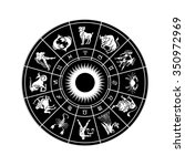 horoscope wheel of zodiac signs ... | Shutterstock . vector #350972969