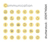 vector round communication icons | Shutterstock .eps vector #350974064