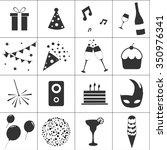 celebrate icons | Shutterstock .eps vector #350976341