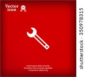 wrench icon   vector... | Shutterstock .eps vector #350978315