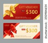 gift voucher template with... | Shutterstock .eps vector #350984654