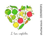 vegetables. icons in the shape... | Shutterstock .eps vector #350989091